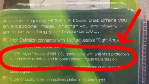 Is There Anyone Stupid Enough to Believe That This Cable Has Anti-Virus Protection?