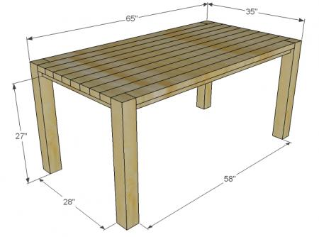 Ana White Build A Big Ur Farm Table And Bench Free